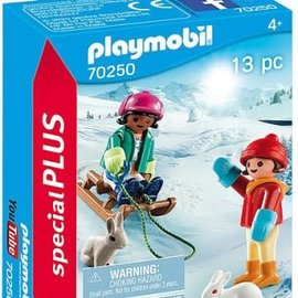Playmobil Playmobil Kinderen met slee (70250)