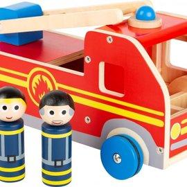 Grote brandweerwagen (hout)