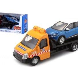 Bburago Bburago  Renault Captur + Flatbed Transporter 1:43