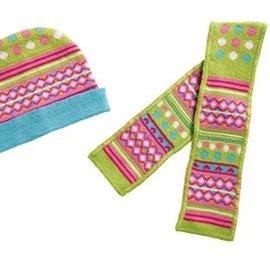 Heless Heless Muts en sjaal (groen/roze) maat 28-35cm