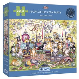 Gibsons Gibsons puzzel Mad Catter's Tea Party (250 XL stukjes)