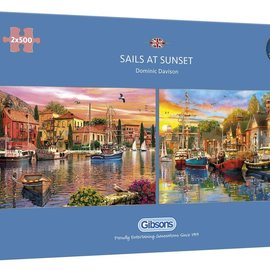 Gibsons Gibsons puzzel Sails at Sunset (2 x 500 stukjes)