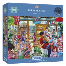 Gibsons Gibsons puzzel Furry Friends (1000 stukjes)