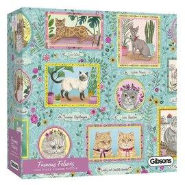 Gibsons Gibsons puzzel Famous Felines (1000 stukjes)
