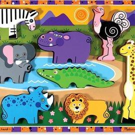 Melissa & Doug Melissa & Doug Dikke Houten puzzel Safari