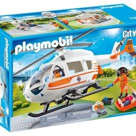 Playmobil Playmobil - Eerste hulp helikopter (70048)