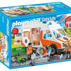 Playmobil Playmobil - Ambulance en ambulanciers (70049)