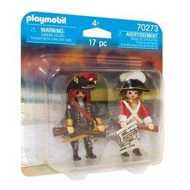 Playmobil DuoPack Piratenkapitein en Roodroksoldaat (70273)