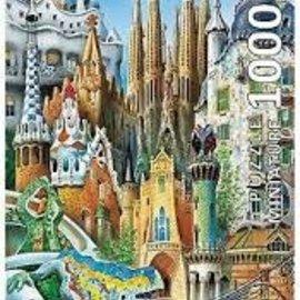 Educa Educa puzzel Collage Mini - Gaudi (1000 stukjes)