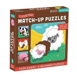 Mudpuppy Mudpuppy Boerderijdieren - Ik hou van jou - Zoek bij elkaar puzzel