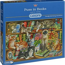 Gibsons Gibsons puzzel Puss in Books (1000 stukjes)