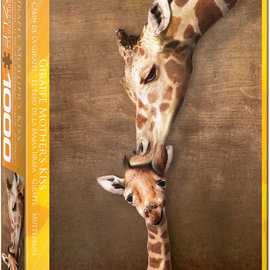 Eurographics Eurographics puzzel Giraffe mothers kiss (1000 stukjes)