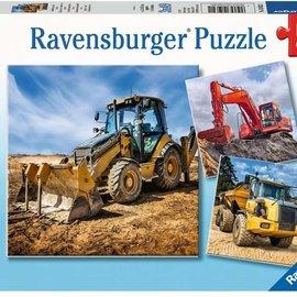Ravensburger Ravensburger puzzel Bouwmachines aan het werk (3x 49 stukjes)