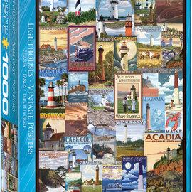 Eurographics Eurographics puzzel Lighthouses Vintage Posters (1000 stukjes)