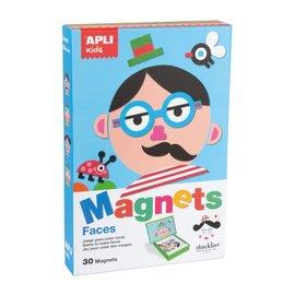APLI APLI - Gezichten Magneetkaart (30 magneten)