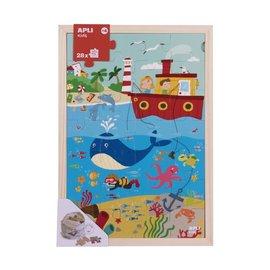 APLI APLI - Oceaan Houten puzzel (28 delig)