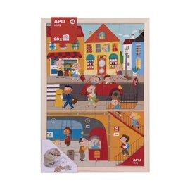 APLI APLI - Stad Houten puzzel (28 delig)