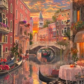 Bluebird Bluebird puzzel - An evening sunset in Venice (1500 stukjes)