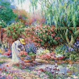 Educa Educa puzzel Her Garden (300 XXL stukjes)