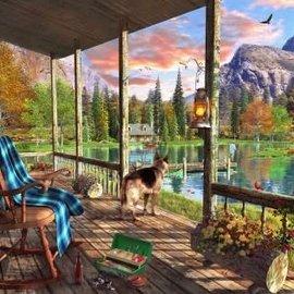 Wentworth Wentworth houten puzzel - Mountain Cabin - Dominic Davison (250 stukjes)