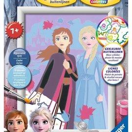 Ravensburger Schilderen op nummer - Disney Frozen 2 Zusterliefde (13 x 18 cm)