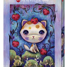 Heye Heye puzzel Dreaming Strawberry Kitty (1000 stukjes)