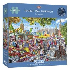 Gibsons Gibsons puzzel Market Day Norwich (1000 stukjes)