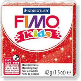 Fimo Fimo kids boetseerklei 42 g - Glitter Rood