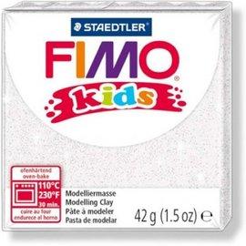 Fimo Fimo kids boetseerklei 42 g - Glitter Wit