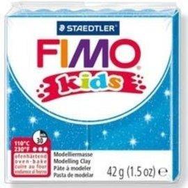 Fimo Fimo kids boetseerklei 42 g - Glitter Blauw
