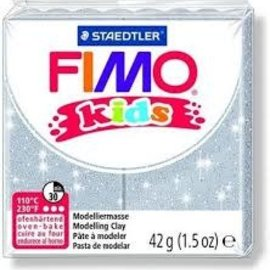 Fimo Fimo kids boetseerklei 42 g - Glitter Zilver