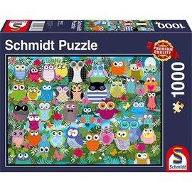 Schmidt Schmidt puzzel Collage met Uilen II (1000 stukjes)