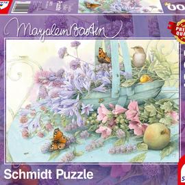 Schmidt Schmidt puzzel Marjolein Bastin, Bloemenmand (1000 stukjes)