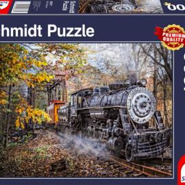 Schmidt Schmidt puzzel Fascinerend treinspoor (1000 stukjes)
