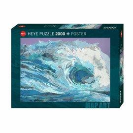 Heye Heye puzzel Map Wave (2000 stukjes)