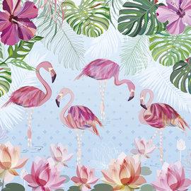 Heye Heye puzzel Flamingos & Lilies (1000 stukjes)