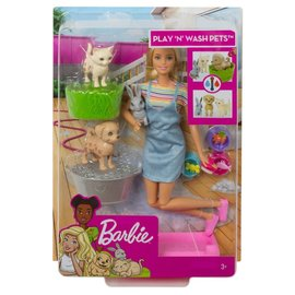 Barbie Barbie - Speelset met hondje, poesje en konijntje
