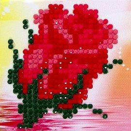 Diamond Dotz Diamond Dotz Rode roos 7 x 7 cm