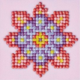 Diamond Dotz Diamond Dotz Bloemen Mandala 7 x 7 cm