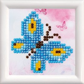 Diamond Dotz Diamond Dotz Fonkelende vlinder inclusief lijst 7 x 7 cm