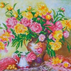 Diamond Dotz Diamond Dotz Elegante rozen 67 x 47 cm
