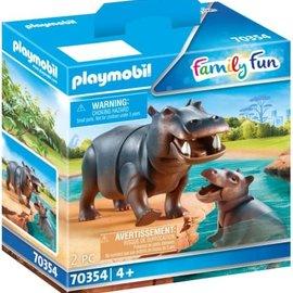 Playmobil Playmobil - Nijlpaard met baby (70354)