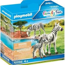 Playmobil Playmobil - Zebra's met baby (70356)