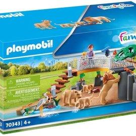 Playmobil Playmobil - Leeuwen in het buitenverblijf (70343)