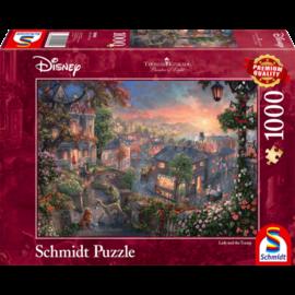 Schmidt Schmidt puzzel Disney Lady en de vagebond (1000 stukjes)
