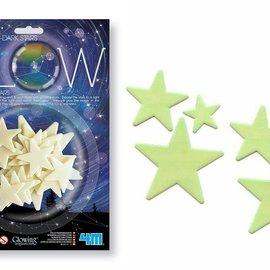 4M Glow in the dark sterren - 3 formaten