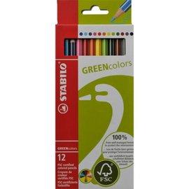 Stabilo Stabilo GREEN colors kleurpotloden (12 stuks)