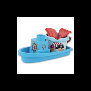Strandset Piraten Boot Blauw