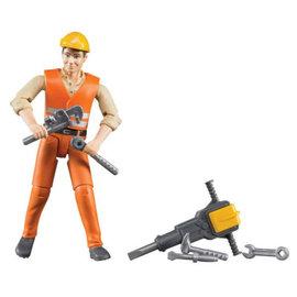 Bruder Bruder bouwvakker 10,7 cm met accessoires