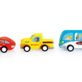 Set van 3 Pull-Back Auto's
